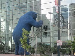 "This 40 foot tall ""Big Blue Bear"" sculpture doesn't come just for children's books. The public art has been part of the Colorado Convention Center since 2005. Learn about the bear's creator here."