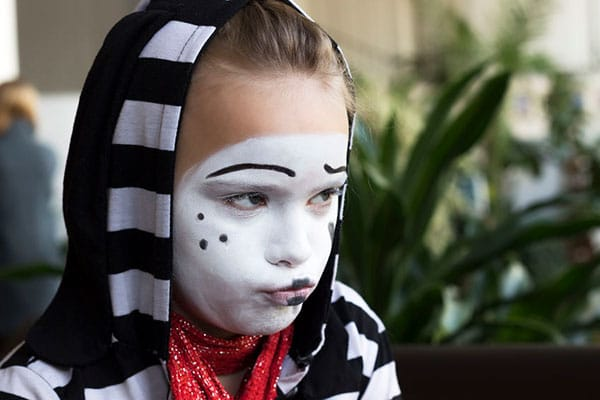 young mime