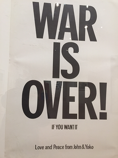 War is Over! poster from John Lennon and Yoko Ono
